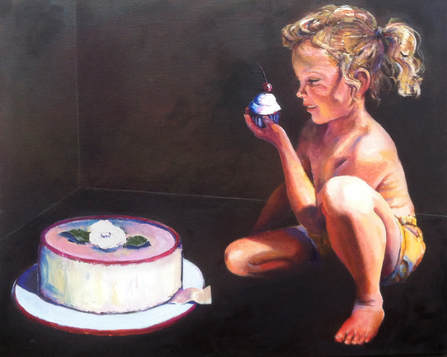 Alice In Wonderland, first painting in the Let Them Eat Cake series
