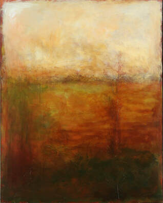 dreamscape art, meditative art, brown. gold, white